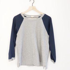 J. Crew Factory Woven-Sleeve Sweatshirt Size M